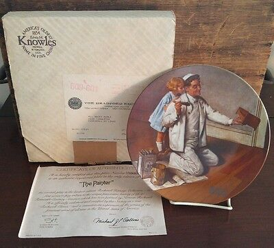 "Edwin Knowles Norman Rockwell Plate ""The Painter"" Number 5583M / Box 69"