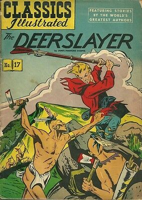 Classics Illustrated 17 The Deerslayer (Canadian blank cover)