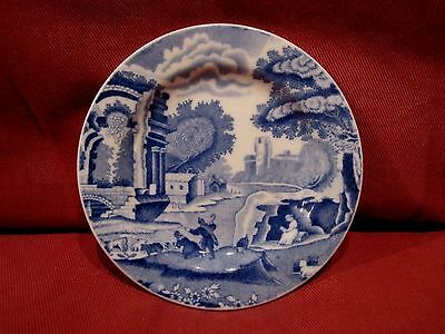 Wonderful Vintage Copeland Spode Blue And White Italian Pattern Pin Dish