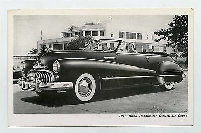 1948 Buick Roadmaster convertible Coupe ORIGINAL Factory Postcard ft1993
