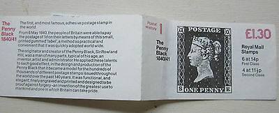 Royal Mail Stamp Book POSTAL HISTORY - THE PENNY BLACK 1840/41