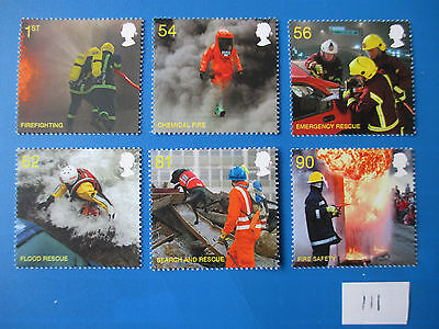 2009 GB Commemoratives: Fire and Rescue, MNH set  (SG 2958-63) #111