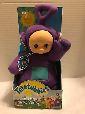 1998 Playskool Teletubbies Talking Tinky Winky Plush *NIB*