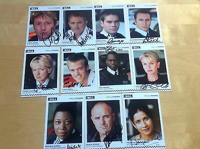 11 x The Bill Autographs Signed Cast Cards 2005