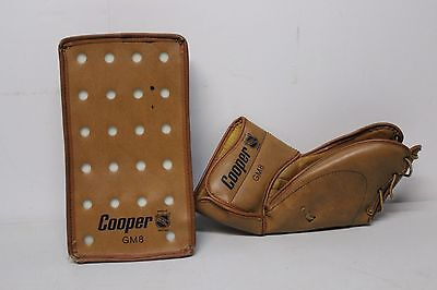 Cooper GM8 Vintage Hockey Glove Equipment Made in Barbados NHL Approved