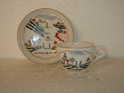 Chamberlain's Worcester Tea Cup and saucer c1815