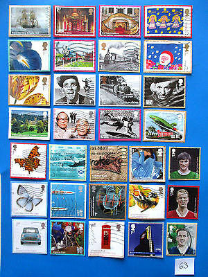GB Commemoratives: Die Cut / SA:  neatly trimmed on coloured backing, used  # 63