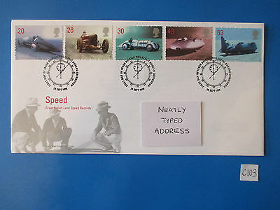 1998 GB Land Speed Record  - Commemorative FDC   #C103
