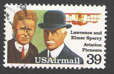 US. C114. 39c. Lawrence & Elmer Sperry. Used. 1985