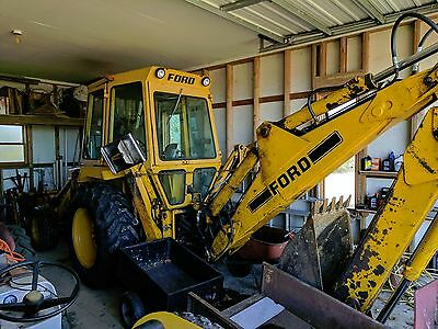 1982 Ford 555 Backhoe Loader Extendahoe Extra Bucket and More