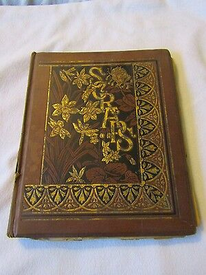 Victorian Album of Scraps Christmas Cards, Advertising, Animals etc 64 Pages