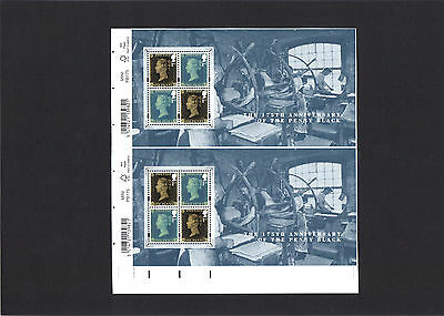 Un-mounted - 2015  175th Anniversary of The Penny Black Pair from Press Sheet