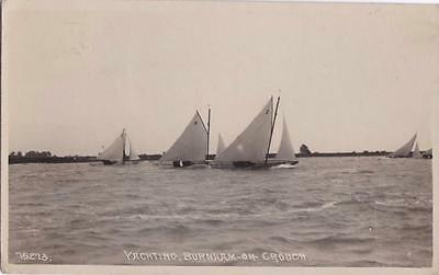 Rp Burnham On Crouch Yachting Sea Yachts Racing  Essex  Real Photo 1921