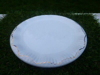 W & R * CarltonWare * GILT RIMMED * RAISED WAVY  EDGE  PLATE * LOW RESERVE * WOW