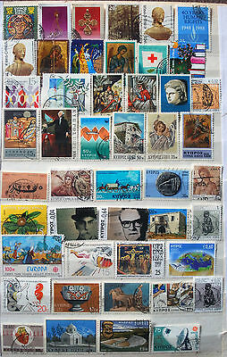 Great Collection of Different Used Cyprus Stamps.