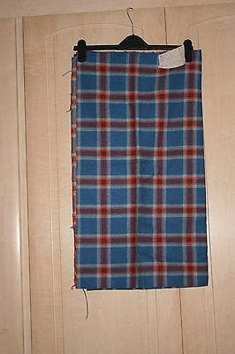 Lovely Vintage Check Blue/Red Fabric *Please Read Listing*