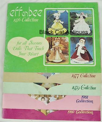 5 Effanbee Doll Catalogues 1976 1977 1979 1980 1981 LOT collection collectables