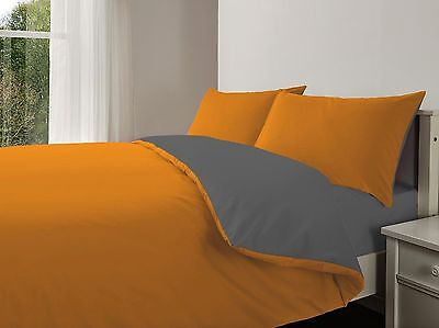 Reversible Duvet Cover with Pillow Cases and Fitted Sheet Bedding Set King Size
