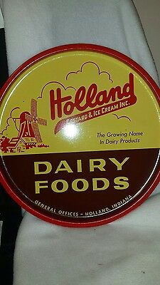 Holland Dairy serving tray. Holland Custard & Ice Cream Inc. Indiana