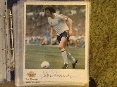 Westminster Football Greats Autographed Photo - Mick Channon