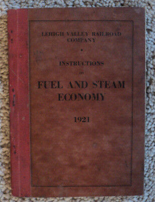 1921 Lehigh Valley Railroad Company Instructions on Fuel and Steam Economy 1921