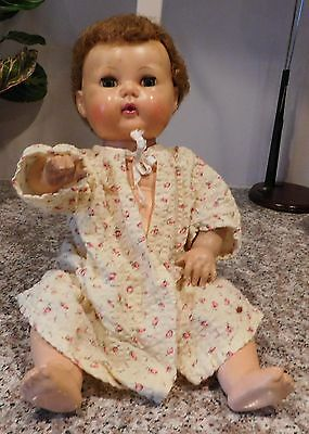 """Old American Character Tiny Tears 15"""" Rubber & Vinyl Baby Doll"""