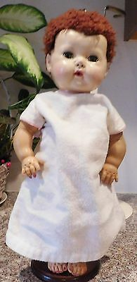 """Old American Character Tiny Tears 15"""" Rubber & Hard Plastic Baby Doll"""