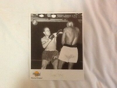 Henry Cooper signed Print with COA