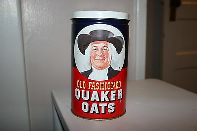 Vintage 1982 Quaker Oats Metal Tin w/ Oatmeal Cookie Recipe Limited Edition