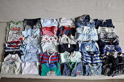 Large Beautiful Baby boy clothes bundle 0-3 months x36 items excel cond!