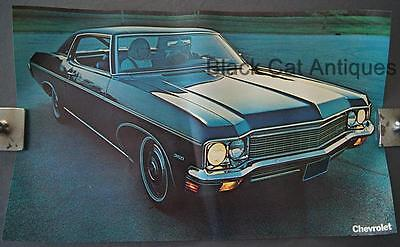 Orig 1970 Chevy Caprice Coupe Poster, Sell Sheet, Info, Over-sized 17 3/4 X 11