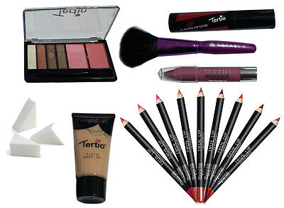 Make Up - Set trucchi cosmetici - Trousse palette pennelli rossetto gloss matite