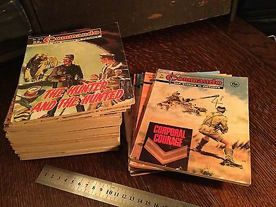 Commando comics job lot of 36 Early issues. See Issue Numbers