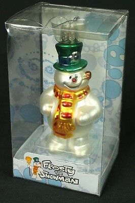 Frosty the Snowman Holiday Glass Ornament