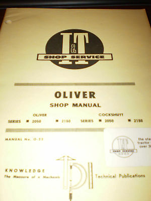Oliver/Cockshutt 2050, 2150 Tractors I&T Shop Service Manual 1970