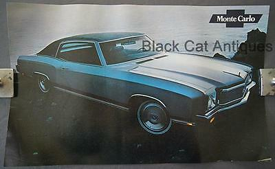 Orig 1971 Chevrolet Monte Carlo Poster/Sell Sheet/Info Over-sized 17 3/4 X 11