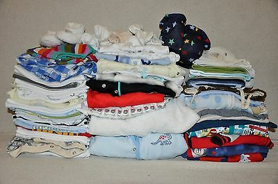 Large Beautiful Baby boy clothes bundle 0-3 months x 77 items excel cond!