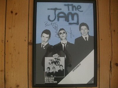 The Jam In The City 'signed' Poster   Reduced Price!!