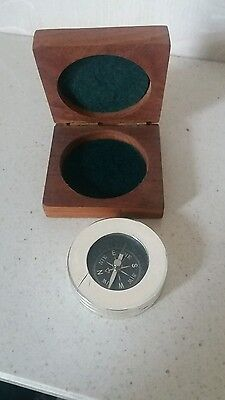 boxed silver compass
