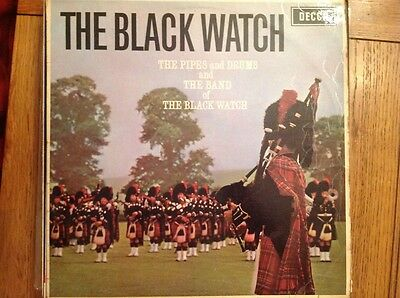 THE BLACK WATCH. The pipes & drums & band of the Black Watch LP Record Vinyl