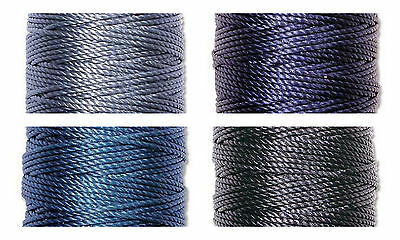 S-Lon Superlon Bead Cord Tex 400  Heavy  .9mm  Blue  Mix - 4 spools