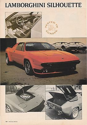 1976 Lamborghini Silhouette Exotic V8 Roadster, Detailed Tested in Europe