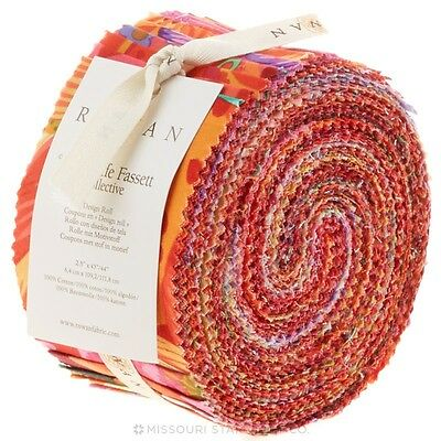 Quilting Fabric Jelly Roll - Kaffe Fassett - Warm Collection