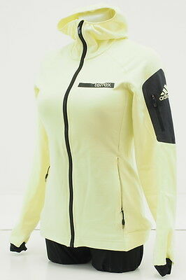 Adidas Terrex Athletic Hoody Jacket Womens Size Small Full Zip Polyester Yellow