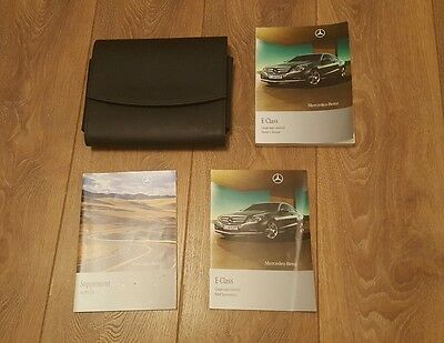 Mercedes benz E class coupe cabriolet owners manual handbook