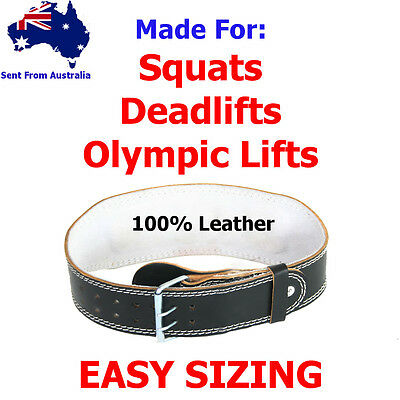 Weight Lifting Belt Leather Gym Olympic Heavy Duty weightlifting 6 inch | 4 inch