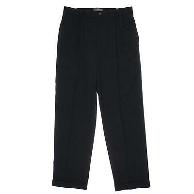 Dockers 3832 Mens Navy Twill Cuffed Relaxed Fit Dress Pants Trousers 32/30 BHFO