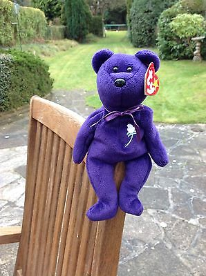 RARE Princess Diana TY Beanie Baby No Space Made in Indonesia ,