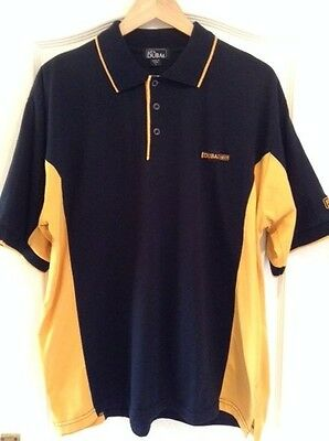 Golf In Dubai  Desert Classic Polo Shirt Large Black/yellow Good Condition