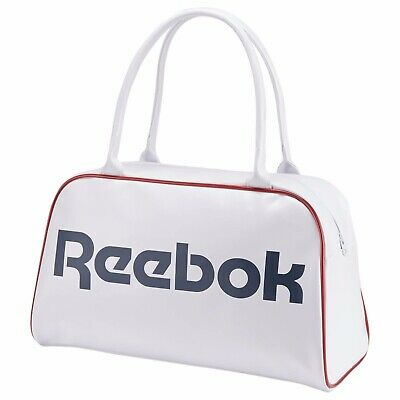 New Women's REEBOK CL ROY Duffle Bag - AB9104 White/Red